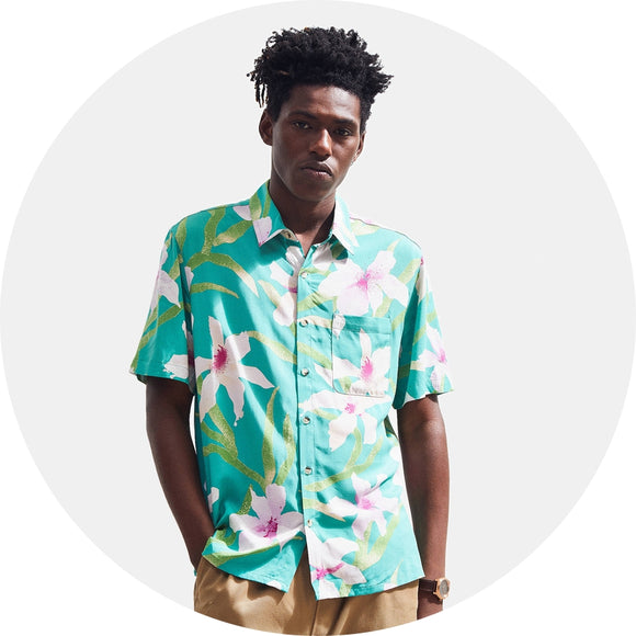 Floral Hawaiian Short Sleeve Button-Down Shirt