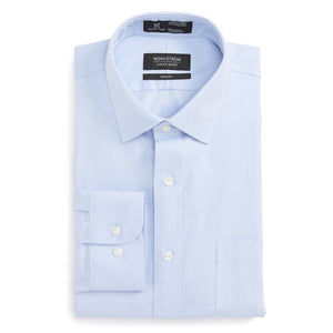 Smartcare Trim Fit Solid Dress Shirt