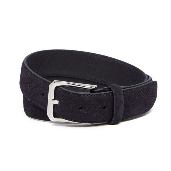 Perforated Italian Suede Belt