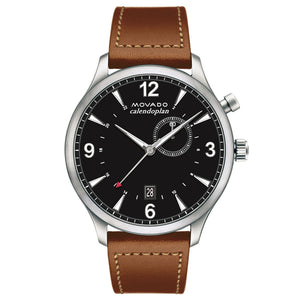 Heritage Calendoplan Leather Strap Watch