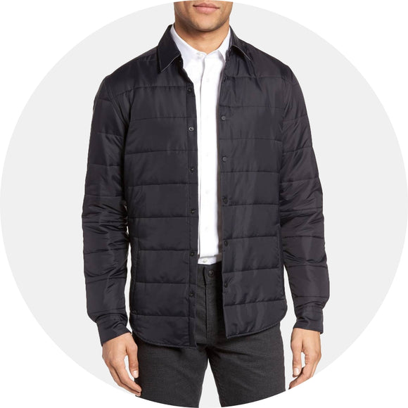 Landolfo Quilted Shirt Jacket