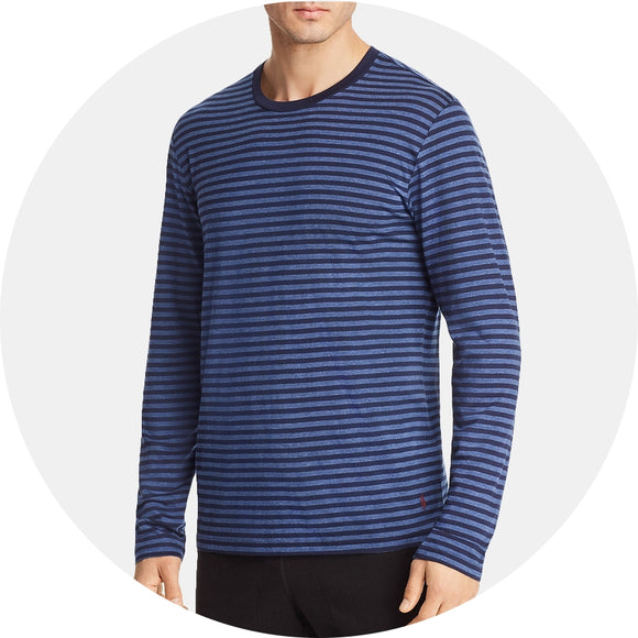 Striped Lounge Crewneck Loungeshirt