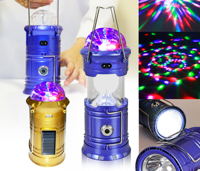 Multifunctional Color LED Camping Lamp with solar