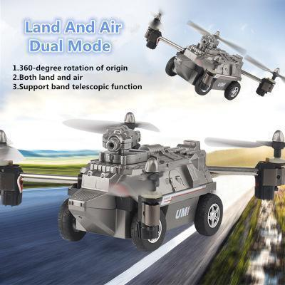2 IN 1 AIR AND LAND MODE RC QUADROCOPTER CAR TOY