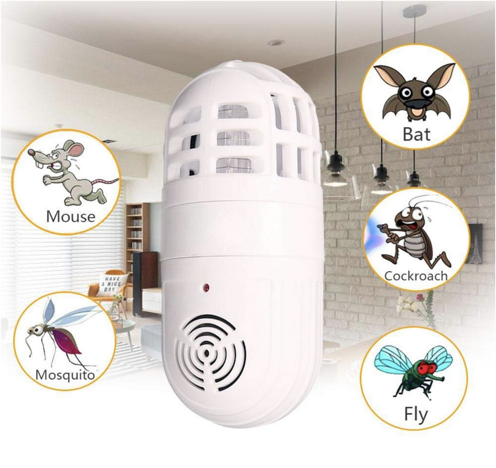 2-in-1 Ultrasonic Pest Repeller & Bug Zapper