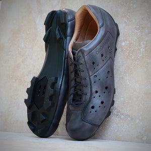Dromarti Sportivo SPD lace up leather touring & allroad gravel cycling shoes