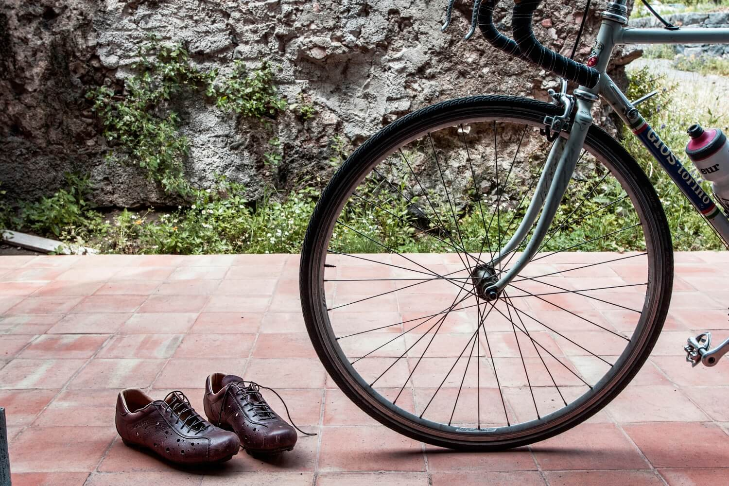 Leather cycling shoes SPD gravel and road