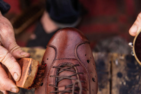 Dromarti Sportivo. Brown leather vintage cycling shoe
