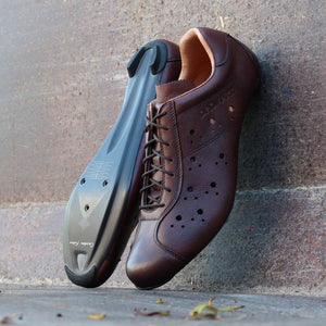 Road carbon vintage leather cycling shoes