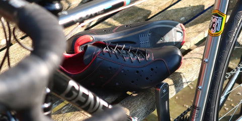 Dromarti Race Carbon - Leather road cycling shoe