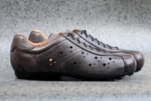 Load image into Gallery viewer, Grey leather all road gravel bike SPD shoes