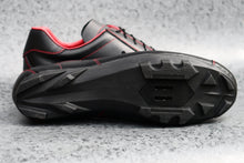 Load image into Gallery viewer, Sportivo Touring. Leather cycling shoes. SPD. Black & red. | DROMARTI