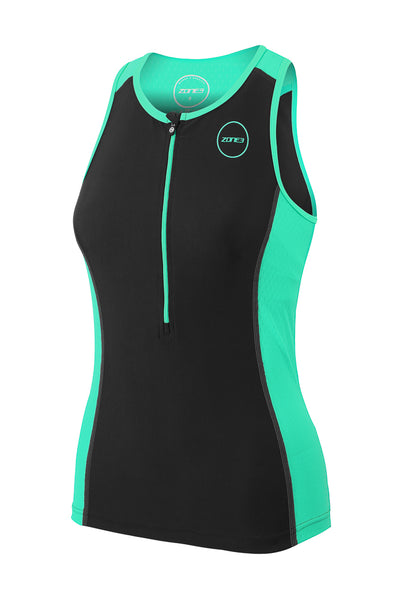 Women's Aquaflo+ Tri Top Green - Zone3 - Flaming Pink