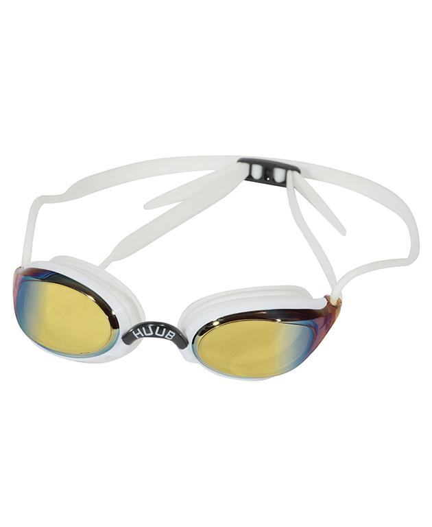HUUB Brownlee Swim Goggle - White with Yellow Mirror Lens - HUUB - Flaming Pink