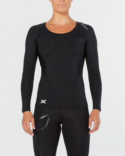 2XU Compression Long Sleeve Top - 2XU - Flaming Pink