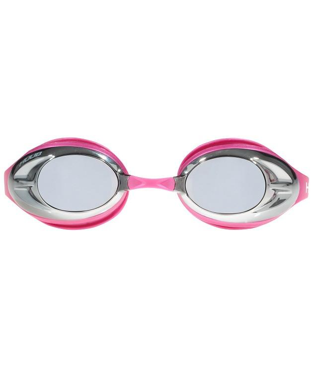 HUUB Varga Race Goggle - Pink with Silver Mirror - HUUB - Flaming Pink
