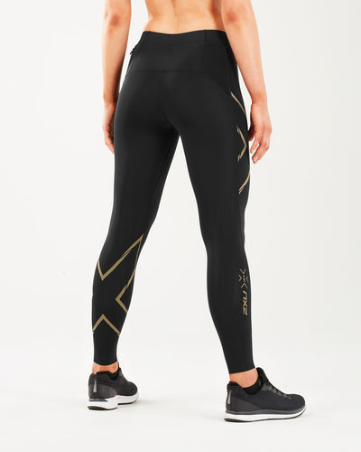 2XU MCS Running Tights - 2XU - Flaming Pink