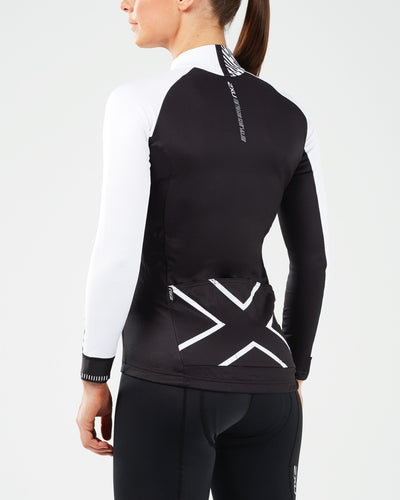 2XU Long Sleeve Thermal Cycling Jersey - 2XU - Flaming Pink