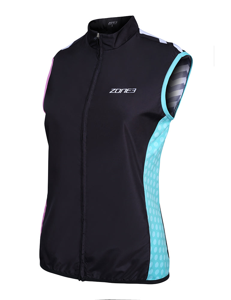 Zone3 Women's Wind/Shower Proof Gilet - Zone3 - Flaming Pink