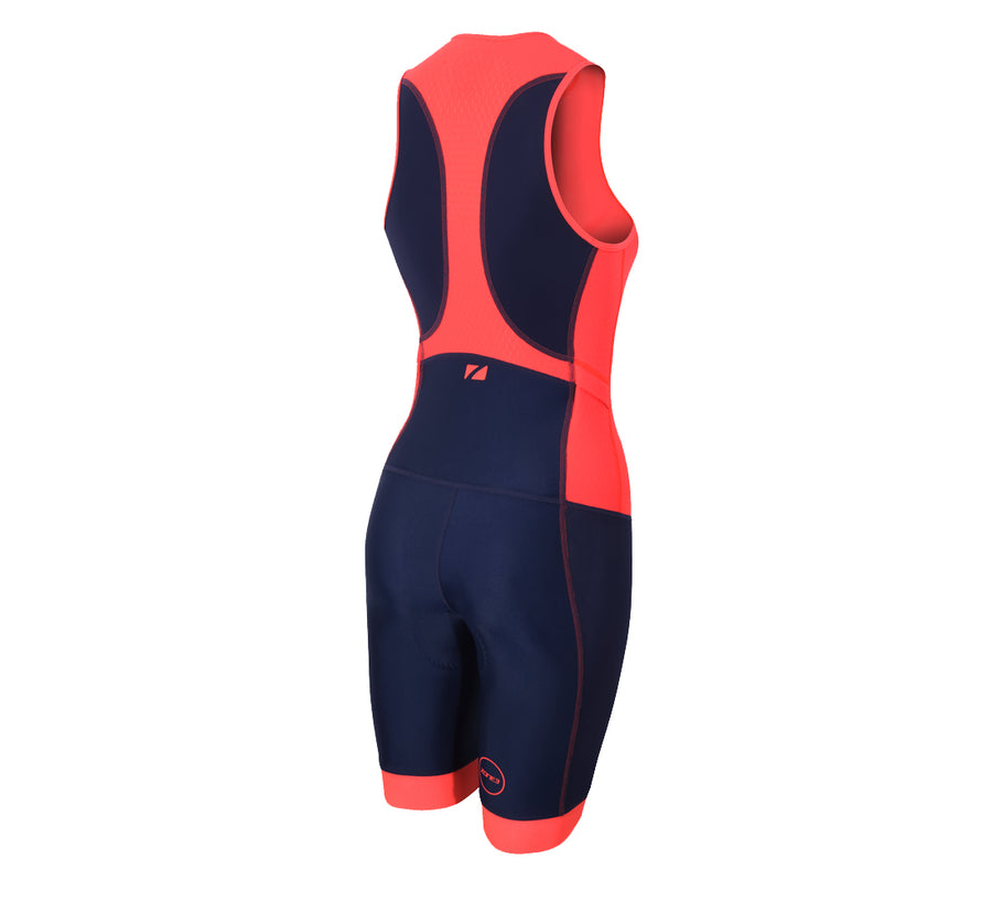 Zone3 Women s Aquaflo+ Trisuit Navy Coral - Zone3 - Flaming Pink c8cb4a4d8