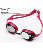 HUUB Varga Race Goggle - Pink with Silver Mirror