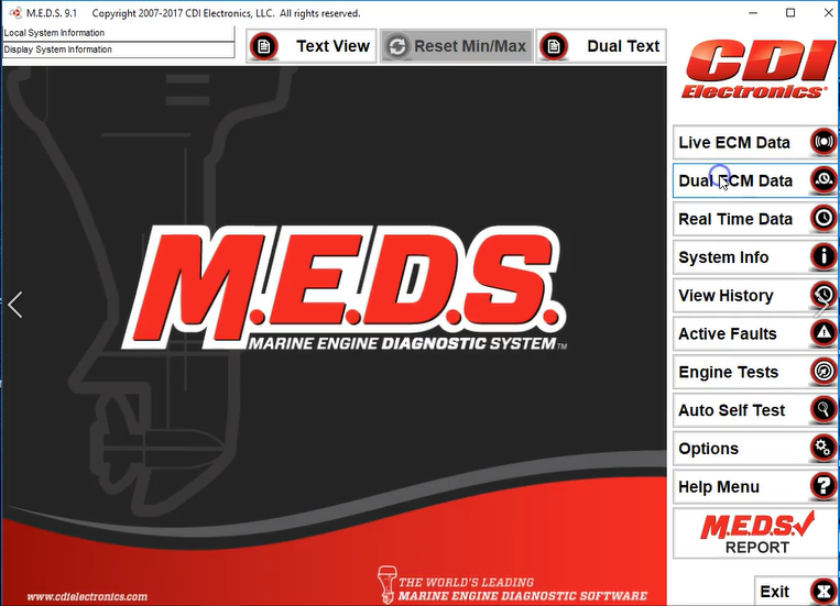 Marine Engine Diagnostic System (MEDS) Review