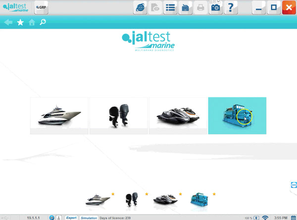 Jaltest multiple connections select screen