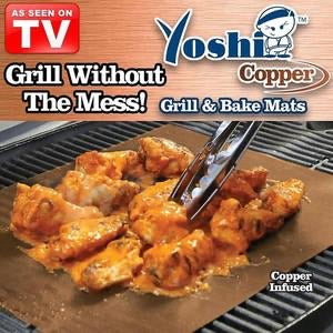 Yoshi Copper Grill Bake Mat 3 Pack As Seen On Tv Home Gadgets