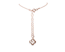 Pendant for Ladies | Rose Gold Caiman bloom back view | Kukka Jewelry