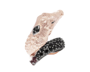 Caiman Lunge front view | Women's Ring | Kukka Jewelry