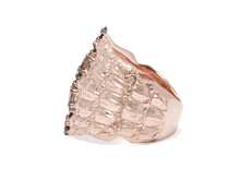 Ring for Girls | Caiman Gaze left view | Rose Gold Plated | Kukka Jewelry