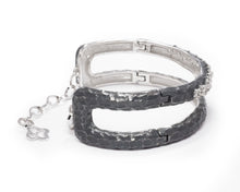 Moon Frostbite left view | in White Rhodium Plated Bracelet for Ladies | Kukka Jewelry