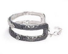 Moon Frostbite right view | in White Rhodium Plated Bracelet for Ladies | Kukka Jewelry