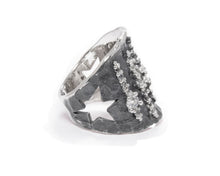 Ring for Ladies left view | White Gold | Kukka Jewelry
