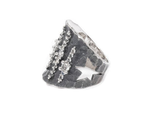 Ring for Ladies right view | White Gold | Kukka Jewelry
