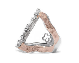 Women's Ring | Rose Moon High Impact left view | Kukka Jewelry
