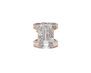 Ring for Girls | Rose Moonbeam front view | Rose Gold | Kukka Jewelry""