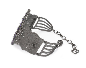 Bracelet for Ladies | Pacific Tsunami main view | Black Rhodium Plated | Kukka Jewelry""