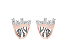 Rose Gold Plated Women's Studs | Woods Breeze front view | Kukka Jewelry