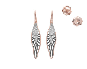 Earrings for Ladies | Woods Drop studs view | Kukka Jewelry