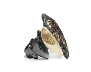 Ladies' Ring right view | Obsydian Shadow Dominion | Kukka Jewelry