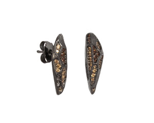 Earrings for Girls | with Gold | Shadow Dusk side view | Kukka Jewelry
