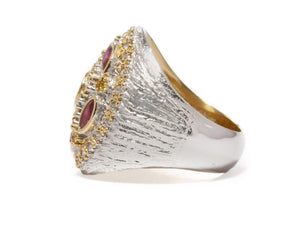Thai Gold Imperial left view | Gold Sterling Silver Plated Ring for Her | Kukka Jewelry