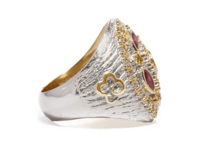 Thai Gold Imperial rifht view | Gold Sterling Silver Plated Ring for Her | Kukka Jewelry