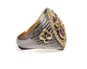 Girls' Ring | Thai Splash Shadow Imperial right view | Kukka Jewelry
