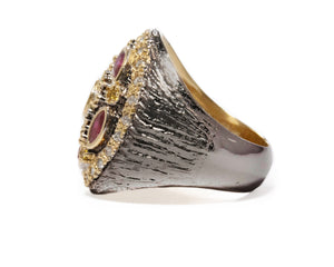 Girls' Ring | Thai Splash Shadow Imperial left view | Kukka Jewelry