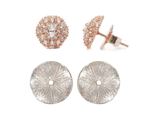 Thai Rose Gold Flower full view | Ladies' Earrings | Kukka Jewelry
