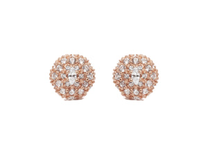 Thai Rose Gold Pollen front view | Ladies' Studs Gold Plated | Kukka Jewelry