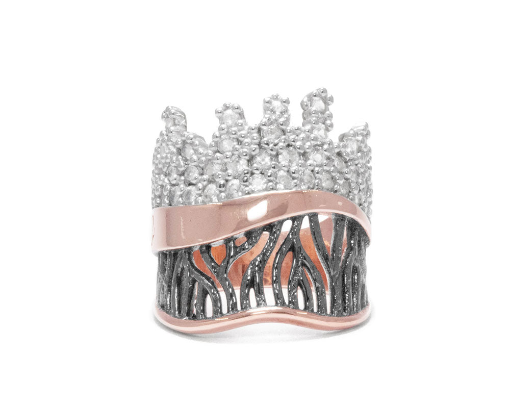 Girls' Ring Rose Gold Plated Sterling Silver | Kukka Jewelry
