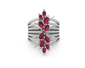 Ring for Her with 18kt Gold and Diamonds and Ruby